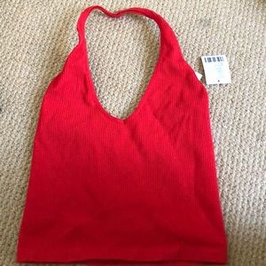 Red halter top! Never worn!